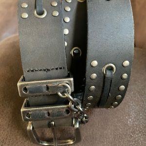 Harley Davidson Black Stud Belt Size 32